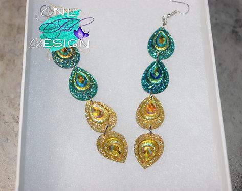 Peacock Glitz Earrings