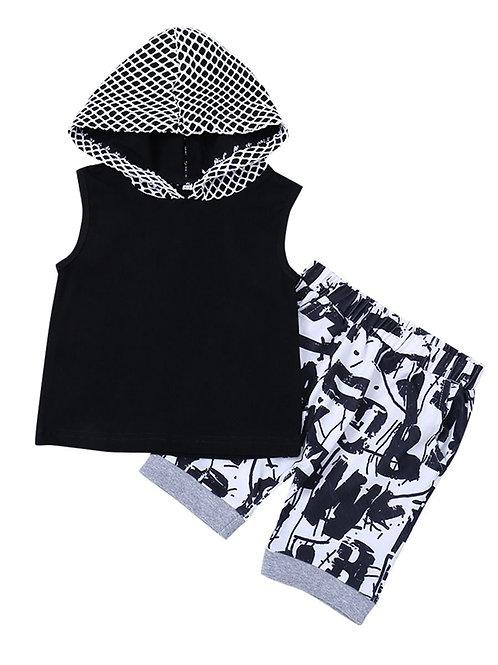 Boys Hooded Shorts Set