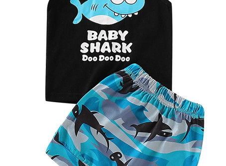 Popular Shark Boy Shorts Set