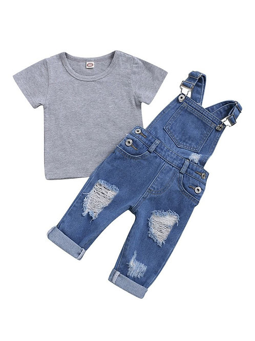 Girls Shabby-Chic Overall Set