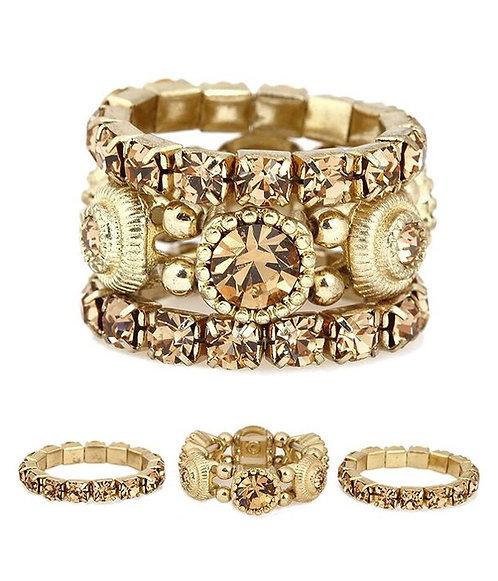 Multi Layered Glitz Ring