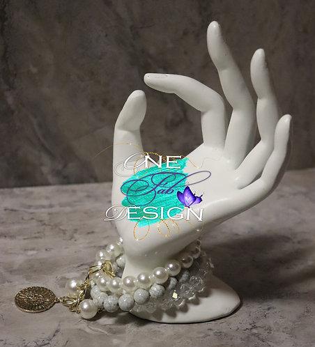 Layered Bead & Pearl Bracelet