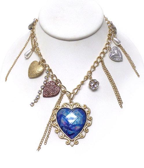 Butterfly Multi-Heart & Charmed Necklace