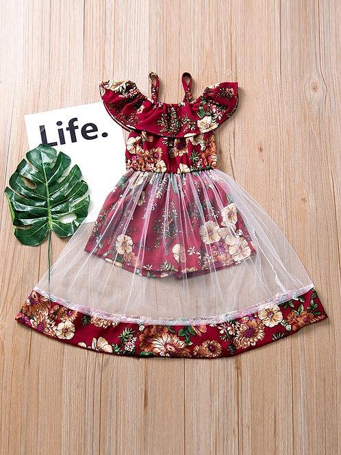 Mesh Romper Dress