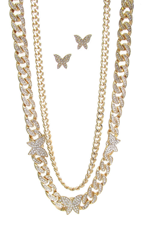 Trendy Layered Butterfly Chain