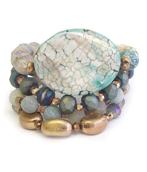 Exquisite Mixed Stone & Bead Bracelet