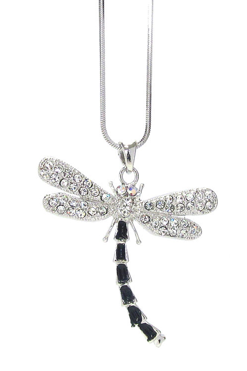 Multi-Stone Dragonfly Necklace