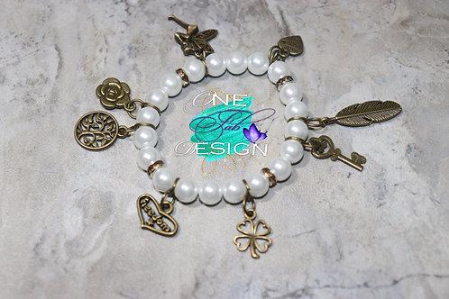 Pearl Charmed Bracelet