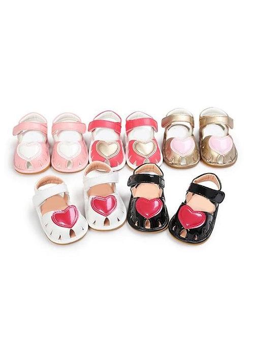 Velcro Heart Sandals