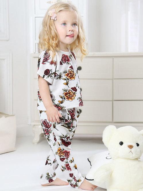 Girl Floral Pants Set