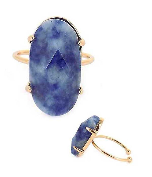 Fanciful Blue Stone Ring