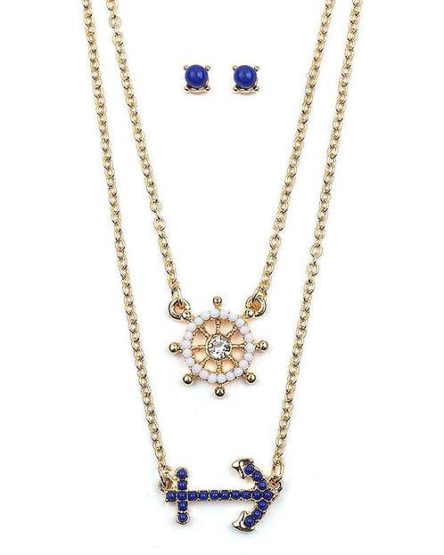 Layered Nautical Necklace Set