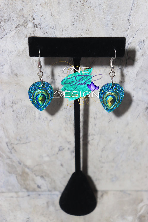 Peacock Glitz Earrings