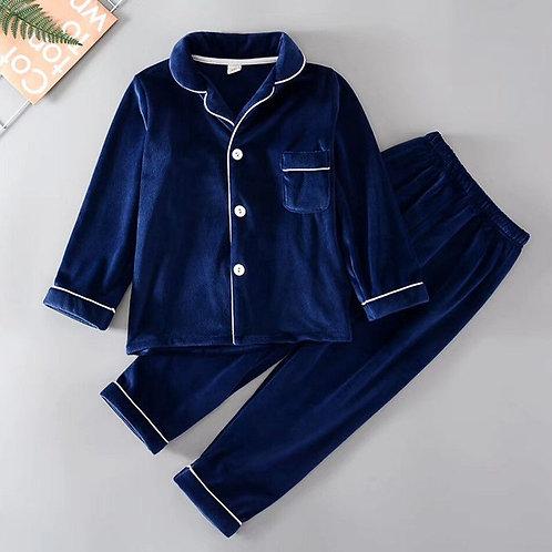 Boy's Velvet Pajama Set