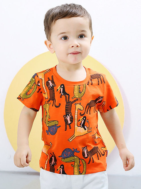 Animal Print Shirt for Boys