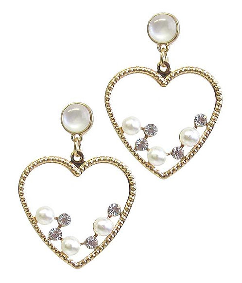 Sim Pearl & Crystal Drop Earrings
