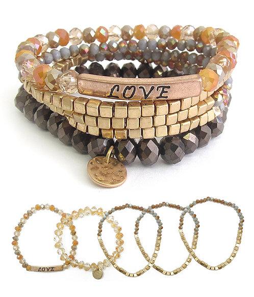 5 Layered Stone Bracelet