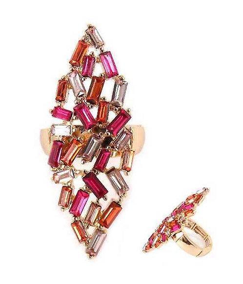 Whimsical-2 Baguette Ring