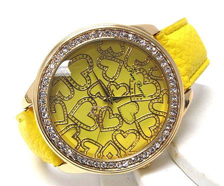 Hearts of Gold Women's Watch