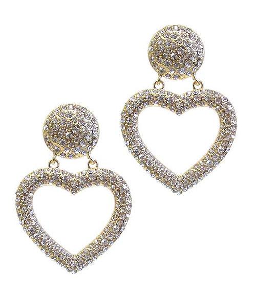 Glitz & Glam Heart Drop Earrings