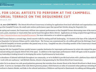 Calling All Local Artists! Apply TODAY to Perform at the Campbell Memorial Terrace on the Dequindre