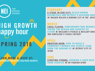 High Growth Happy Hour With New Economy Initiative (NEI) Spring 2018