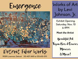 Emergence: The Work of Levi Johnson, Jr. @ Detroit Fiber Works, Nov. 10th