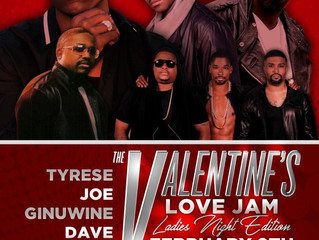 Tonight It's The Valentine's Love Jam You Don't Want To Miss: Tyrese, Joe, Ginuwine, Dav