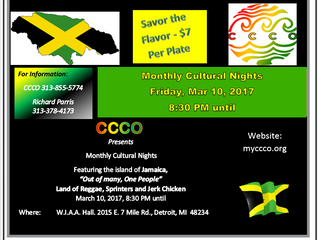 Caribbean Cultural & Carnival Organization Presents Monthly Cultural Nights, Friday, March 10th