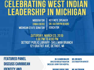 Celebrating West Indian Leadership in Michigan, March 23rd