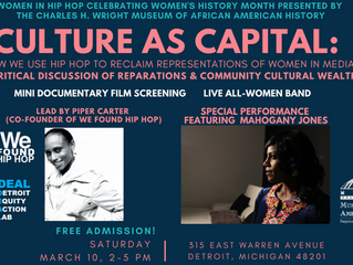 Women In Hip Hop Celebrating Women's History Month Event at The Charles H. Wright Museum March 10th