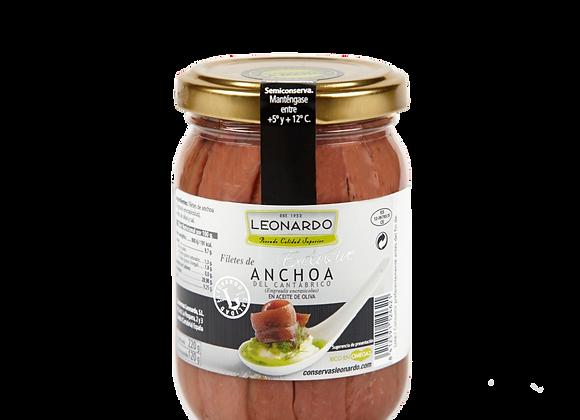 TARRO 220 ML, Filetes de Anchoa en Aceite de Oliva