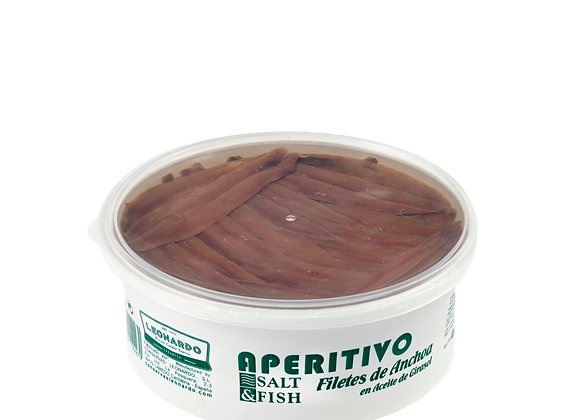 Tarrina 900 ML, Filetes de Anchoa en Aceite de Girasol