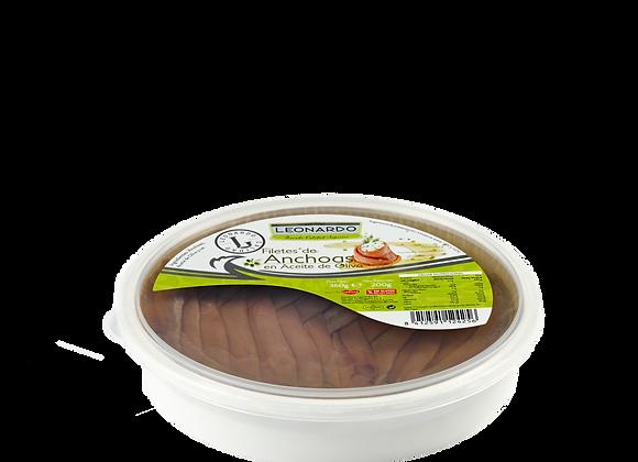 Tarrina 360 ML, Filetes de Anchoa en Aceite de Oliva