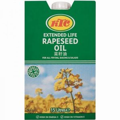 15 litres extended life GM free ktc rapeseed oil