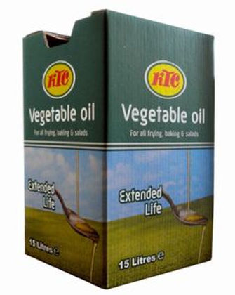 15 litres ktc extended life vegetable cooking oil