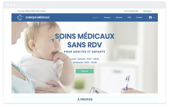 création site web soins médicaux