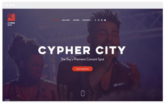 création site web salle de concert