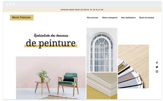 Création site web peintre