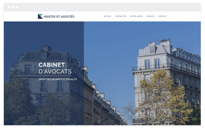 Site de présentation Avocat