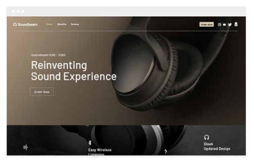 Landing Page e-commerce