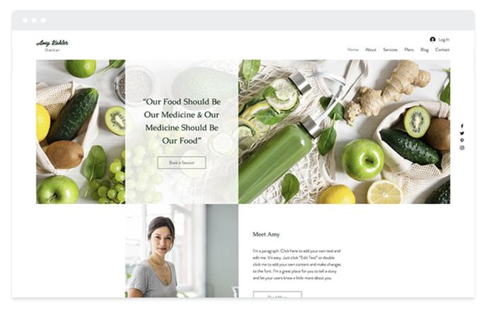 site vitrine diéteticienne