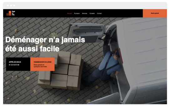 création site web transport