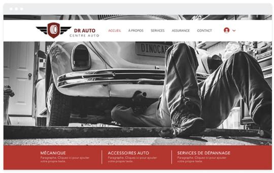 création site web mécanique