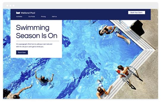 création site web cours de natation