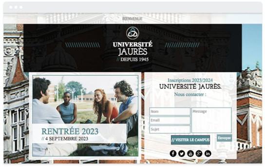 Création site web université