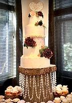 Rustic and elegant. Lyndsie's cake