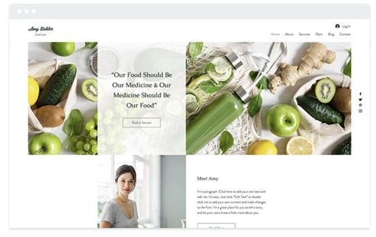 création site web diététicienne