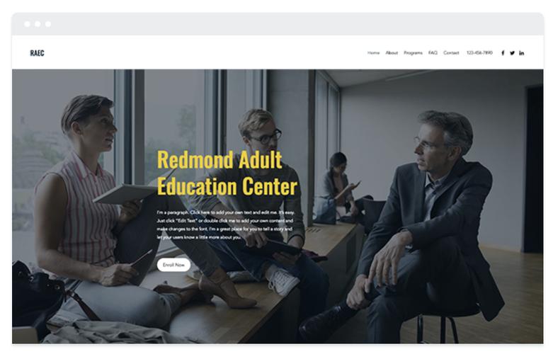 création de site internet Wix