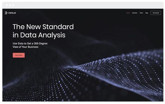 création site web data